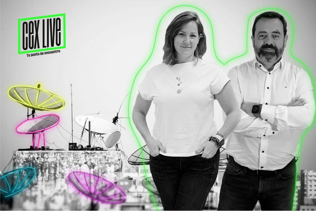 Laia Congost y Agustí Molías en la imagen de CEX LIVE